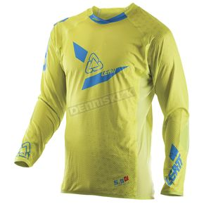 Leatt Lime/Blue GPX 5.5 UltraWeld Jersey - 5017910431