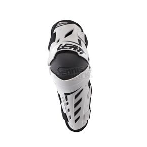 Leatt White/Black Dual Axis Knee and Shin Guards - 5017010177