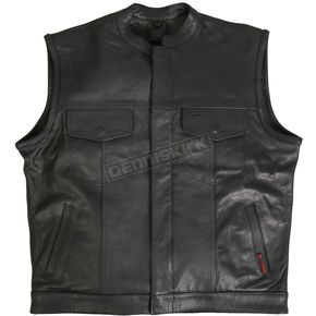 Hot Leathers Hidden Snap w/Zipper Vest - VSM1031XXXXXL