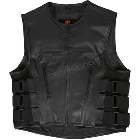 Hot Leathers Adjustable Leather Vest w/Side Straps - VSM1028M
