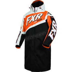 FXR Racing Black/Orange Warm Up Coat - 16015.30116