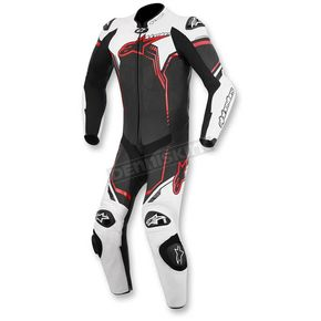 Alpinestars Black/White/Red GP Plus 1-Piece Leather Race Suit - 3150516-123-50
