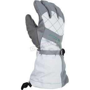 Klim Women's Allure Gray/Mint Gloves - 4087-002-140-602