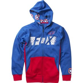 Fox Youth Blue Marvel Captain America Zip Hoody - 20241-002-YL