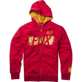 Fox Youth Red Marvel Iron Man Zip Hoody - 20245-003-YXL