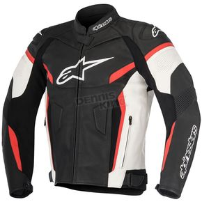 Alpinestars Black/White/Red GP Plus R v2 Leather Jacket - 3100517-123-52