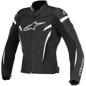Alpinestars Womens Black/White Stella GP Plus R v2 Leather Jacket - 3110517-12-42