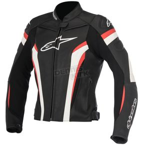 Alpinestars Womens Black/White/Red Stella GP Plus R v2 Leather Jacket - 3110517-123-50