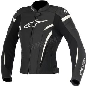 Alpinestars Womens Black/White Stella GP Plus R v2 Airflow Leather Jacket - 3110617-12-48