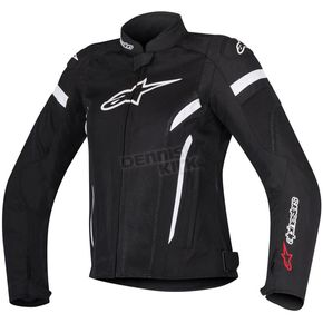 Alpinestars Womens Black/White Stella T-GP Plus R v2 Air Jacket - 3310617-12-XS