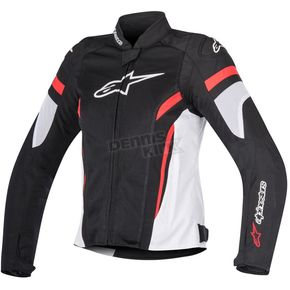Alpinestars Womens Black/White/Red Stella T-GP Plus R v2 Air Jacket - 3310617-123-S