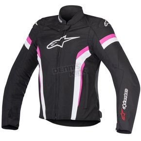 Alpinestars Womens Black/White/Fuchsia Stella T-GP Plus R v2 Air Jacket - 3310617-1239-XL