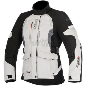 Alpinestars Womens Light Gray/Black/Dark Gray Stella Andes v2 Drystar Jacket - 3217517-9219-XL
