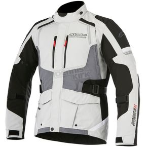 Alpinestars Light Gray/Black/Dark Gray Andes v2 Drystar Jacket - 3207517-9219-M