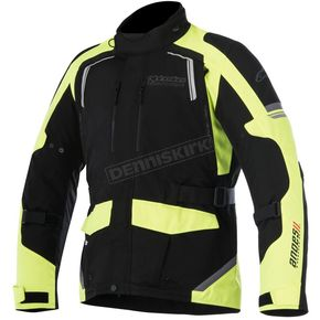Alpinestars Black/Fluorescent Yellow Andes v2 Drystar Jacket - 3207517-155-2X