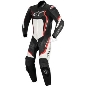 Alpinestars Black/Red/White Motegi v2 One-Piece Riding Suit - 3151017-132-58