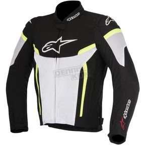 Alpinestars Black/White/Fluorescent Yellow T-GP Plus R v2 Air Jacket - 3300617-125-4X