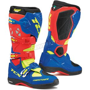TCX Red/Bright Blue/Yellow Fluorescent Comp EVO Michelin Boots - 9661-RBBY-49