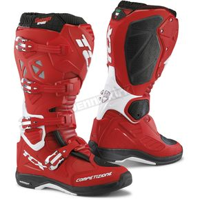 TCX Red/White Comp EVO Michelin Boots - 9661 ROBI 43