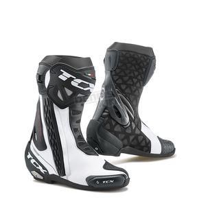 TCX White/Black RT-Race Boots - 7655-BINE-48