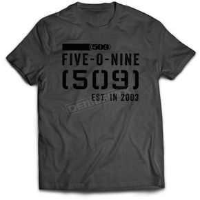 509 Charcoal Stamp 17 T-Shirt - 509-CLO-S7T-SM