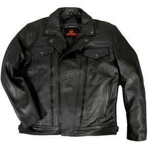 Hot Leathers Leather Jacket w/Zip Vents - JKM1018XL
