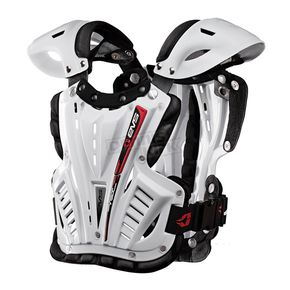 EVS Sports White Vex Chest Protector - VEX-W-M