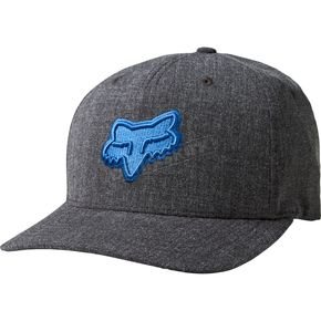 Fox Heather Black Heads Up FlexFit Hat - 19561-243-L/XL