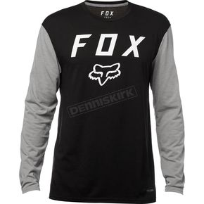 Fox Black Contended Long Sleeve Tech Shirt - 19698-001-M