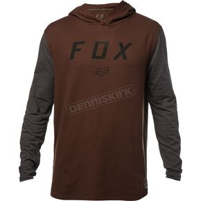 Fox Dark Maroon Tranzit Long Sleeve Shirt - 19705-299-S