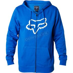 Fox Blue Legacy Fox Head Zip Hoody - 20766-002-XL