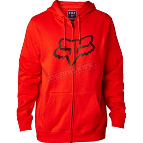 Fox Flame Red Legacy Fox Head Zip Hoody - 20766-122-S