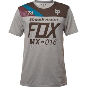 Fox Heather Dark Gray Accordingly Tech T-Shirt - 19741-572-S