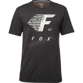 Fox Heather Black Fade to Track Tech T-Shirt - 19744-243-L
