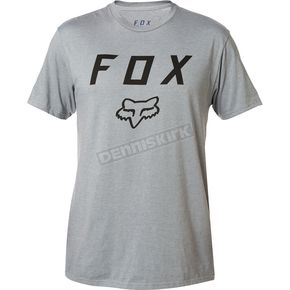 Fox Heather Graphite Legacy Moth T-Shirt - 20556-185-2X