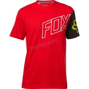 Fox Dark Red Moto Vation Tech T-Shirt - 19731-208-S