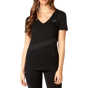 Fox Women's Black Hinter V-Neck T-Shirt - 19671-001-S