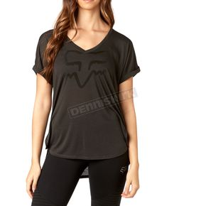 Fox Women's Black Vintage Responded V-Neck T-Shirt - 19673-587-L