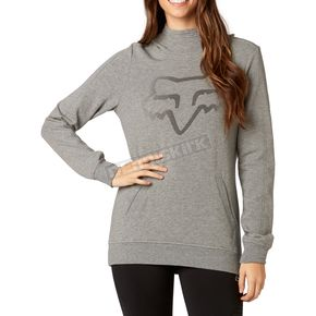 Fox Women's Heather Graphite Certain Pullover Hoody - 19642-185-S