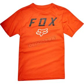 Fox Youth Orange Contended T-Shirt - 19809-009-YM