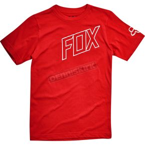 Fox Youth Dark Red Moto Vation T-Shirt - 19812-208-YS