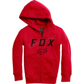 Fox Youth Flame Red Legacy Moth Zip Hoody - 20722-122-YXL