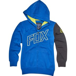 Fox Youth Blue Moto Vation  Zip Hoody - 19795-002-YXL