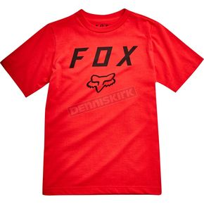 Fox Youth Flame Red Legacy Moth T-Shirt - 20731-122-YL
