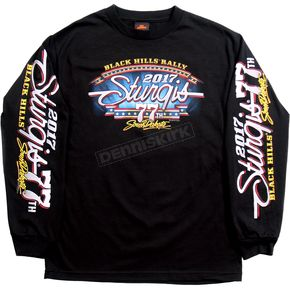 Hot Leathers Black 2017 Sturgis Uncle Sam Racer Long Sleeve Shirt - SPM2585XXXL