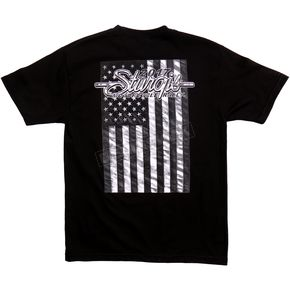 Hot Leathers Black 2017 Sturgis American Flag T-Shirt - SPM1632L