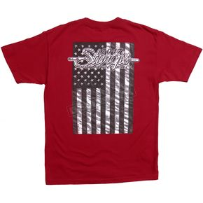 Hot Leathers Indy Red 2017 Sturgis American Flag T-Shirt - SPM1633M