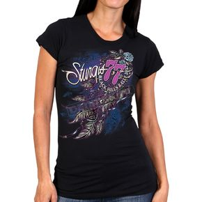 Hot Leathers Women's Black 2017 Sturgis Windy Dream Catcher T-Shirt - SPL1428L