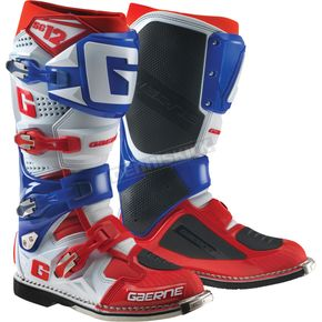 Gaerne White/Blue/Red SG-12 Boots - 2174-052-013