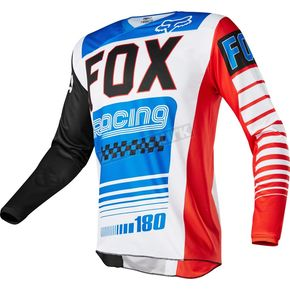 Fox Youth Blue/Red 180 Fiend SE Jersey - 19001-149-L